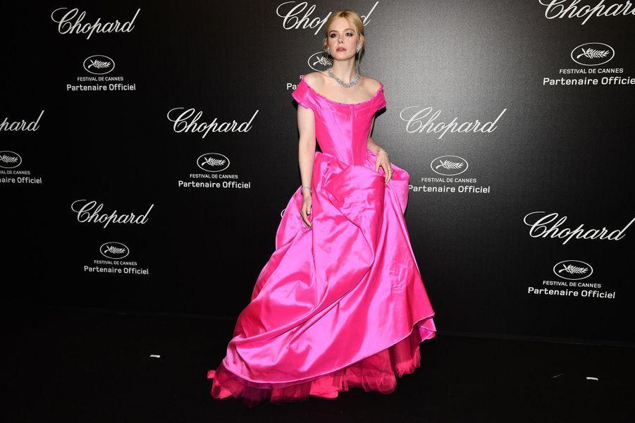 Elle Fanningà la soirée Chopard organisée en marge du 72e Festival de Cannes le 17 mai 2019