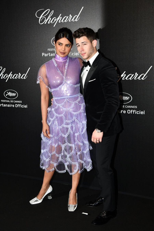 Priyanka Chopra et Nick Jonasà la soirée Chopard organisée en marge du 72e Festival de Cannes le 17 mai 2019