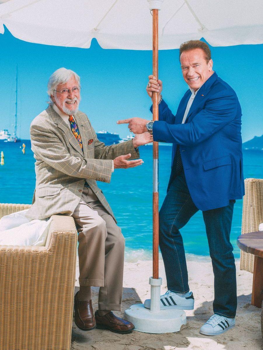 Jean-Michel Cousteau et Arnold Schwarzenegger, complices au Nikki Beach, défendent la préservation des grands fonds sous-marins avec le documentaire « Wonders of the Sea 3D ».