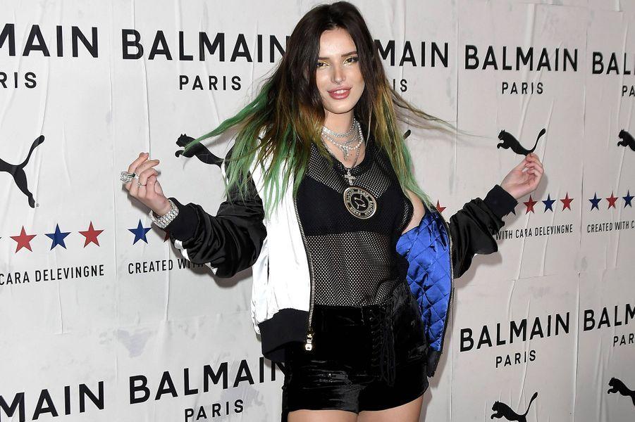Bella Thornelors de la soiréePUMA x Balmain à Los Angeles le jeudi 21 novembre 2019.