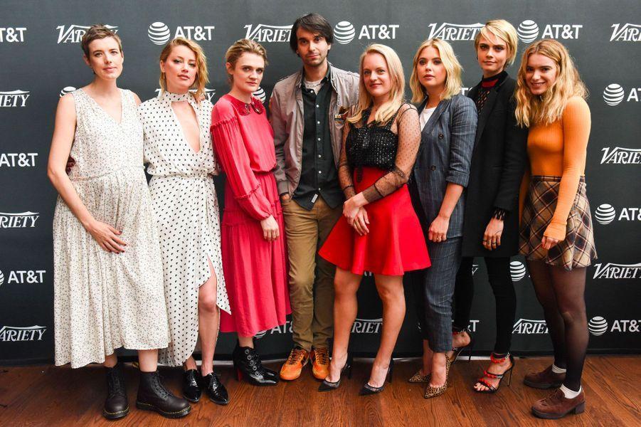 """Cara Delevingne et Ashley Benson avec l'équipe du film """"Her Smell"""" à Toronto le 9 septembre 2018"""