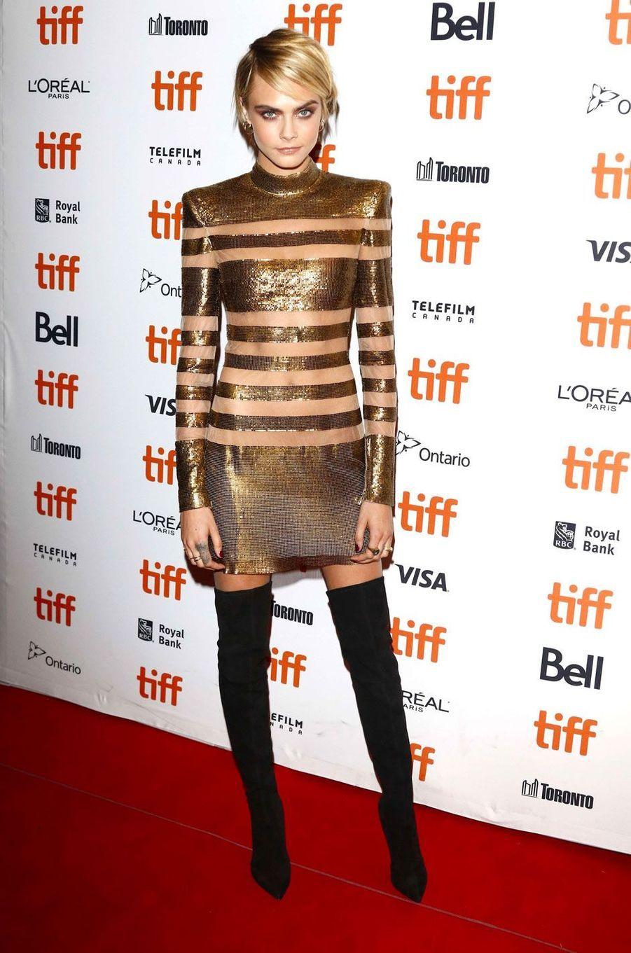 """Cara Delevingne à l'avant-première du film """"Her Smell"""" à Toronto le 9 septembre 2018"""
