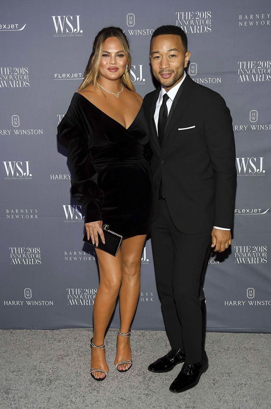 Chrissy Teigen et John Legend à la soiréeInnovator Awards, au MoMA, à New York, mercredi 7 novembre
