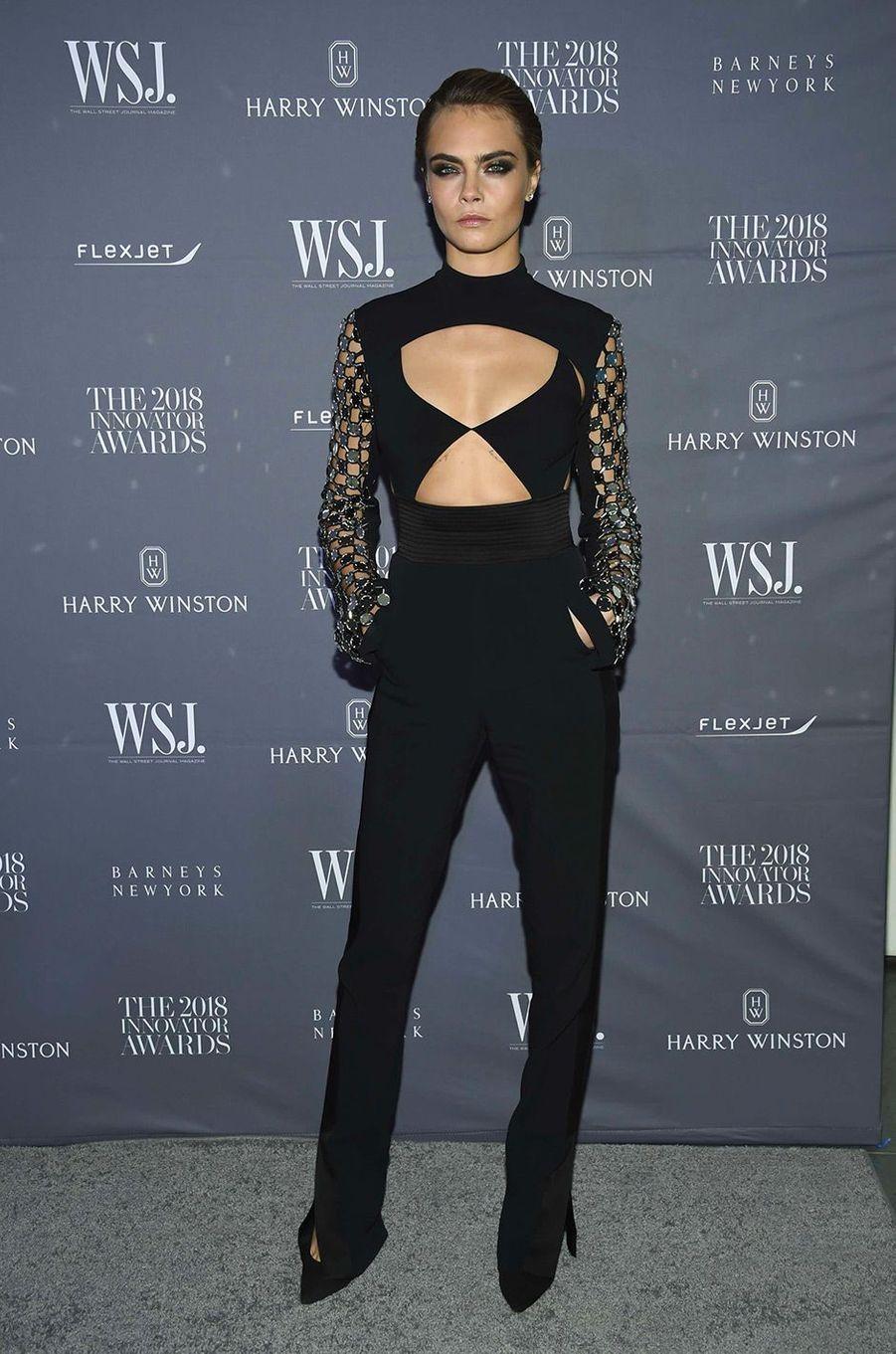 Cara Delevingne à la soiréeInnovator Awards, au MoMA, à New York, mercredi 7 novembre