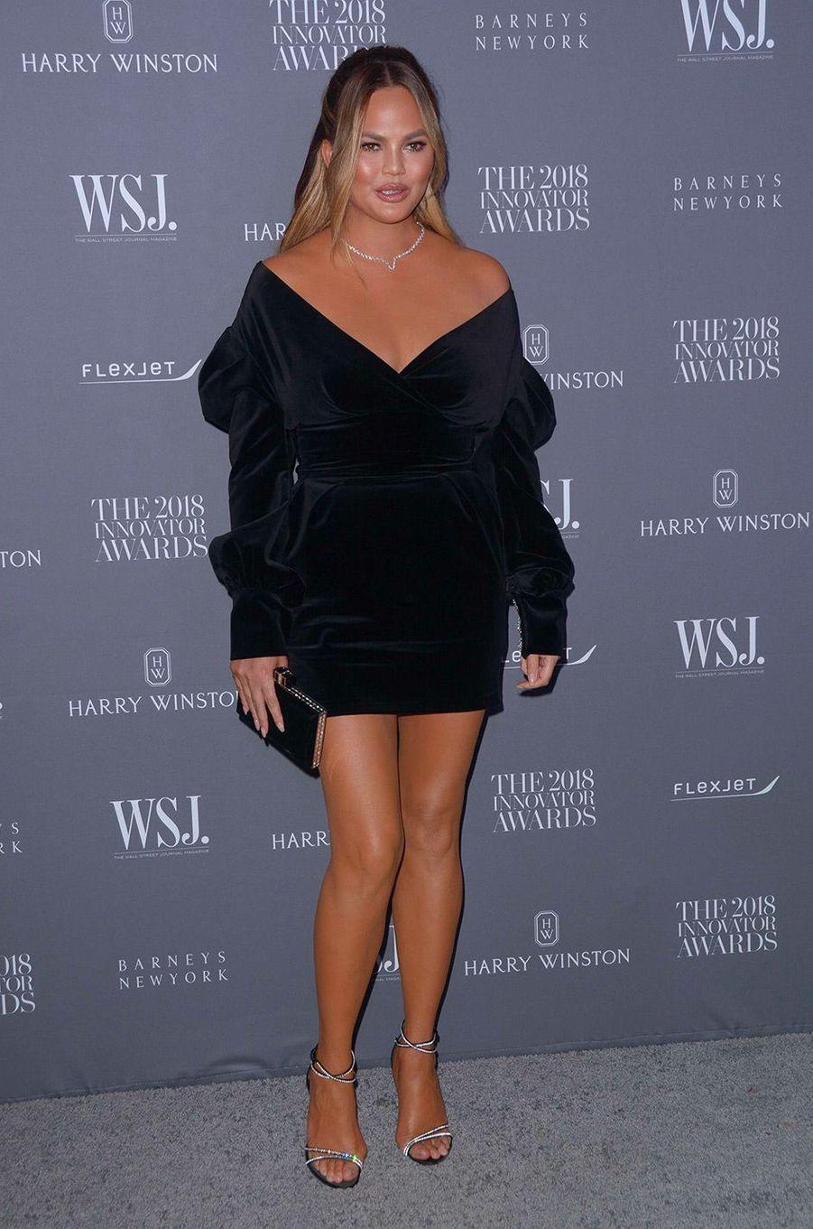 Chrissy Teigen à la soiréeInnovator Awards, au MoMA, à New York, mercredi 7 novembre