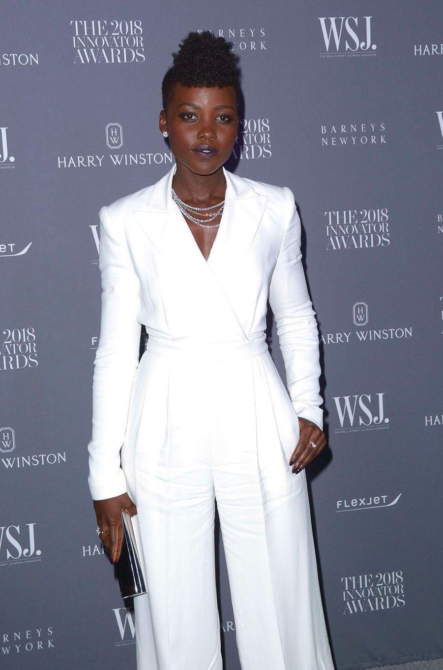 Lupita Nyong'o à la soiréeInnovator Awards, au MoMA, à New York, mercredi 7 novembre