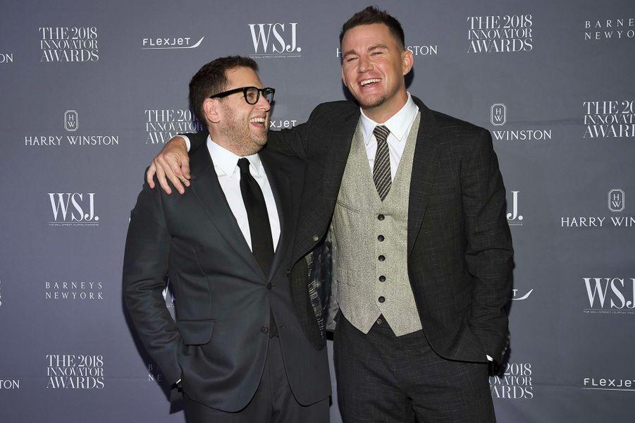 Channing Tatum et Jonah Hill à la soiréeInnovator Awards, au MoMA, à New York, mercredi 7 novembre