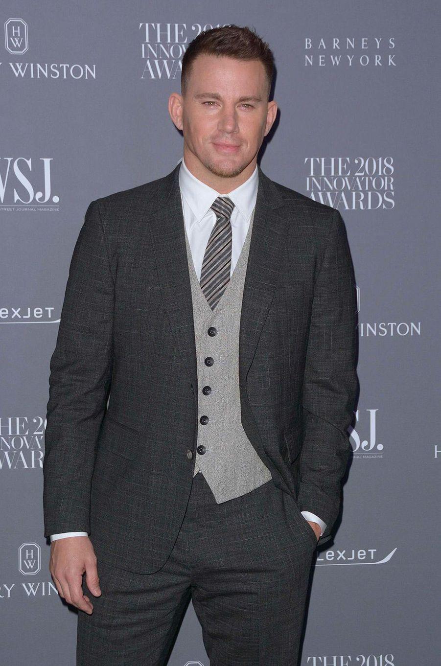 Channing Tatum à la soiréeInnovator Awards, au MoMA, à New York, mercredi 7 novembre
