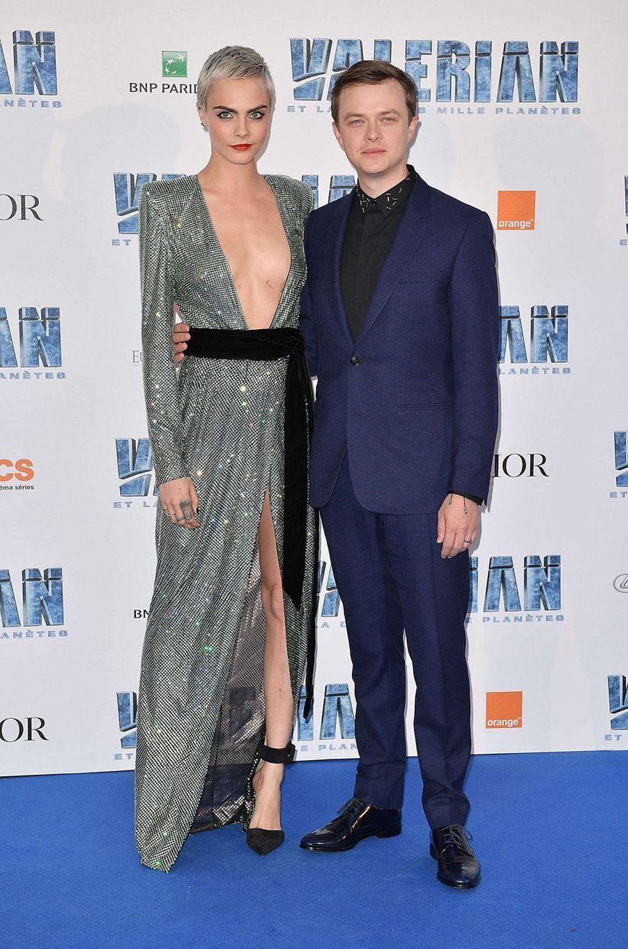 Dane Dehaan et Cara Delevingne à Paris, le 25 juillet 2017.