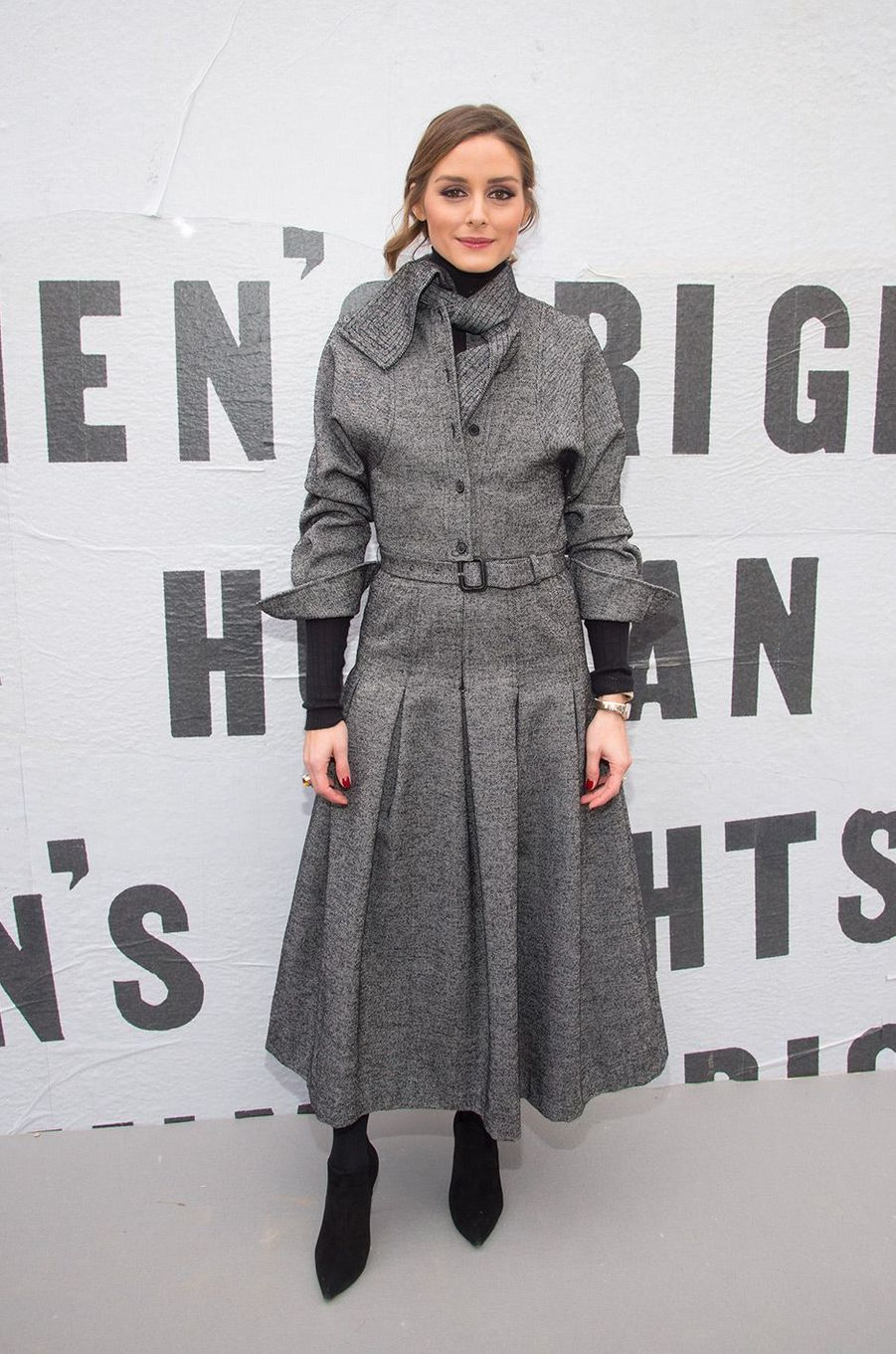 Olivia Palermo au défilé Dior pendant la Fashion Week de Paris