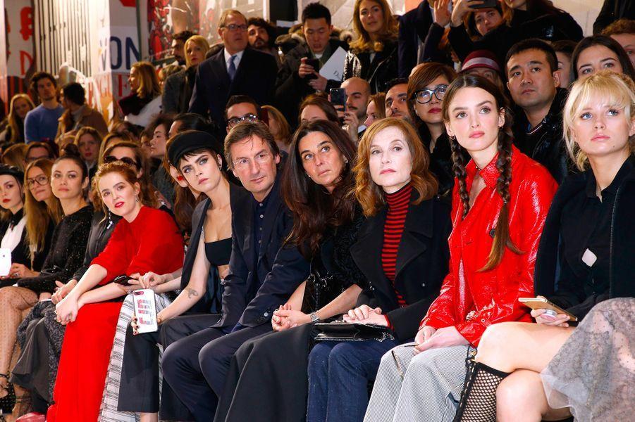 Le front row du défilé Dior pendant la Fashion Week de Paris