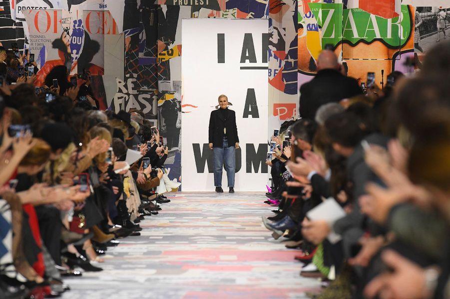 Maria Grazia Chiuri présente la collection automne-hiver 2018-2019 de Dior pendant la Fashion Week de Paris