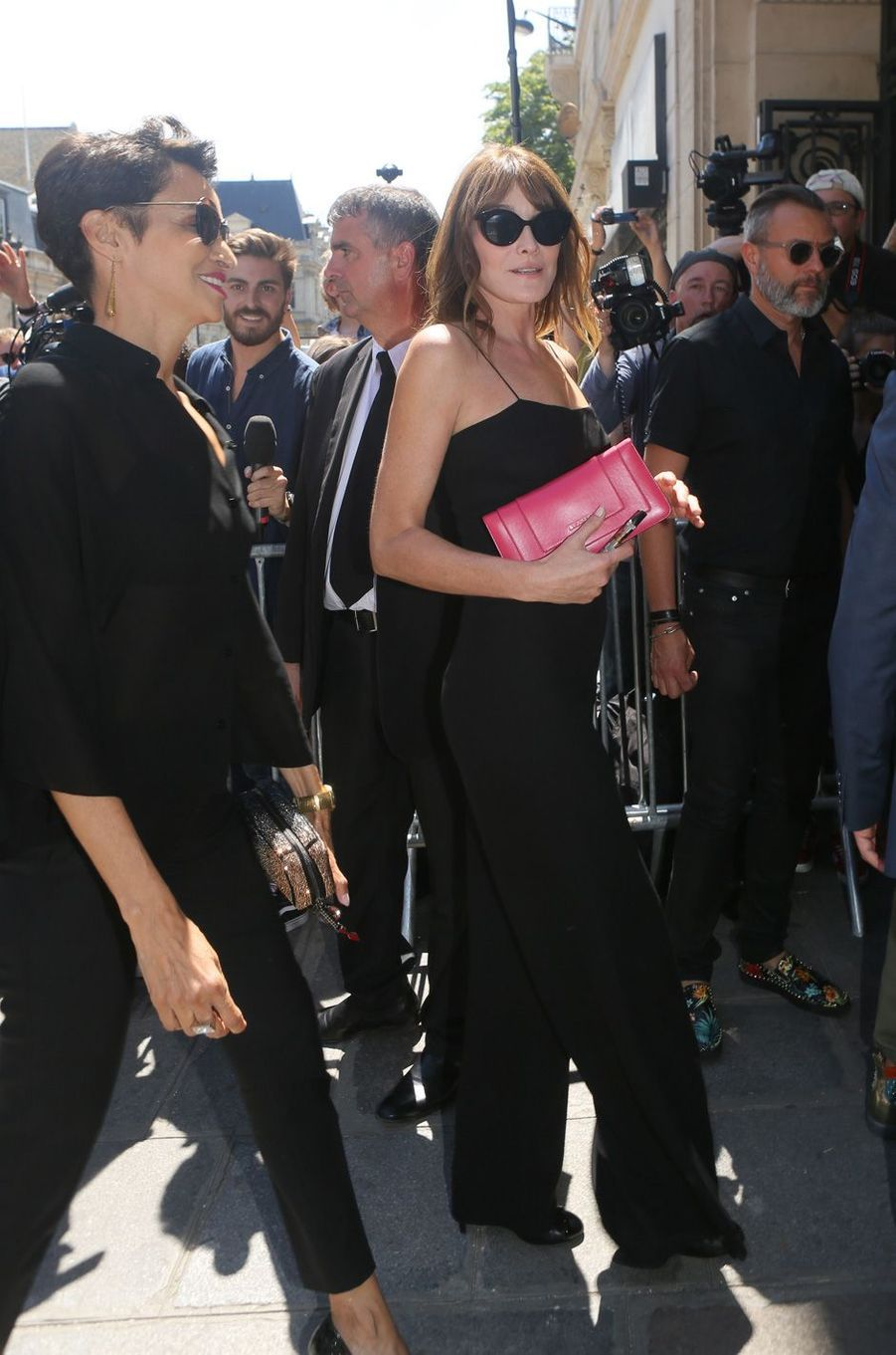Carla Bruni au défilé de Jean Paul Gaultier à Paris, le 5 juillet 2017.