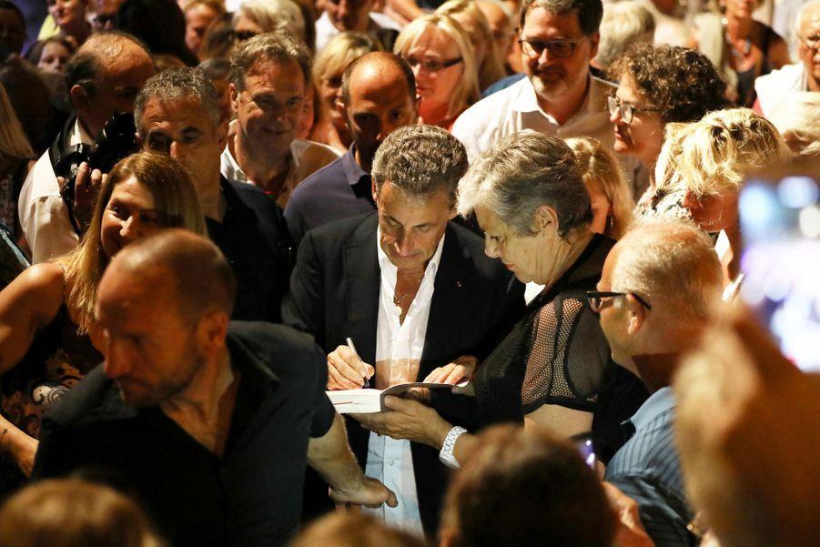 Nicolas Sarkozyau concert de Carla Bruni au Lavandou le 23 juillet 2019