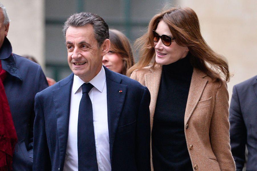 Nicolas Sarkozy et Carla Bruni le 13 décembre 2015