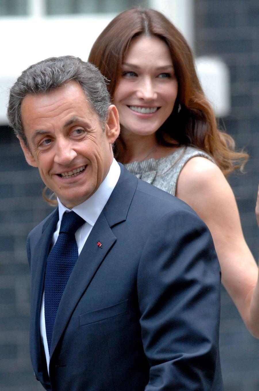 Nicolas Sarkozy et Carla Bruni le 18 juin 2010