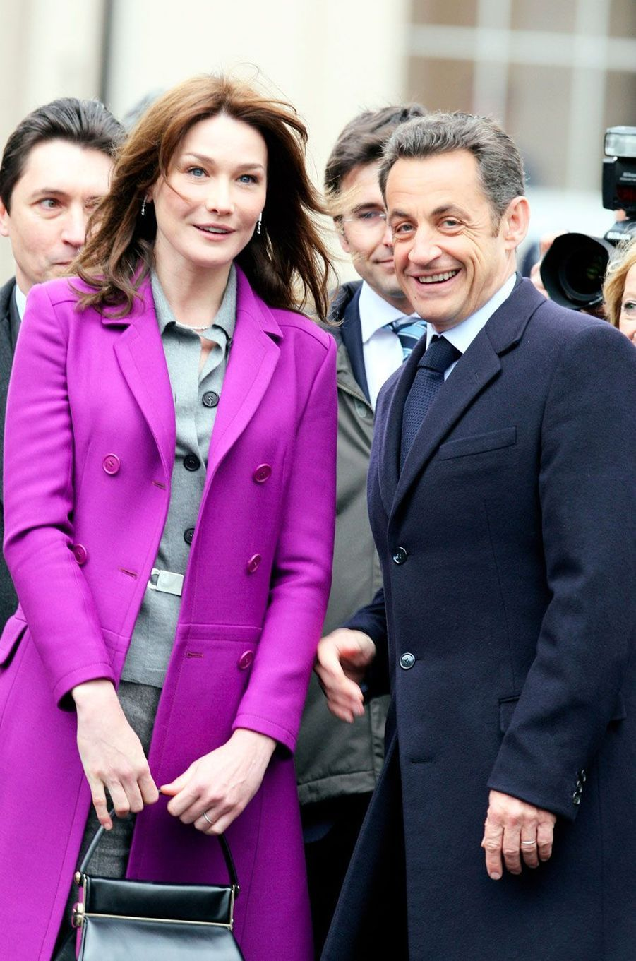 Nicolas Sarkozy et Carla Bruni à Londres le 27 mars 2008