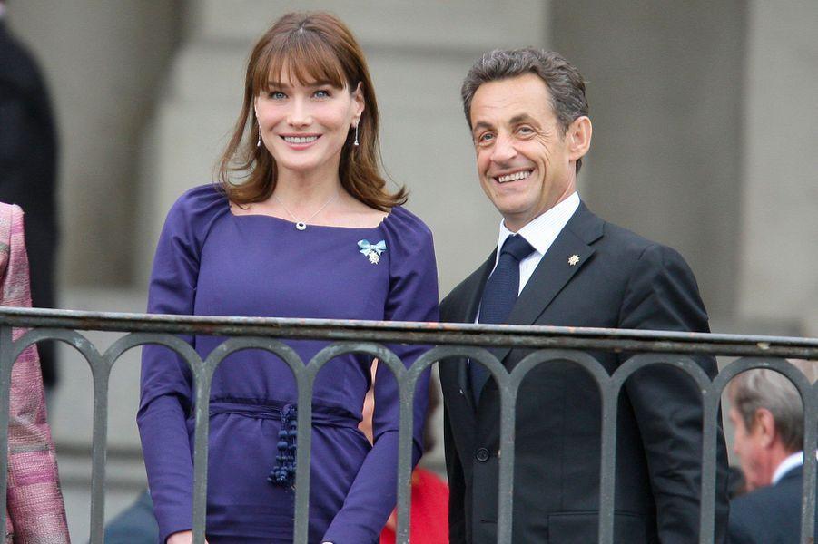 Nicolas Sarkozy et Carla Bruni en Espagne, le 27 avril 2009