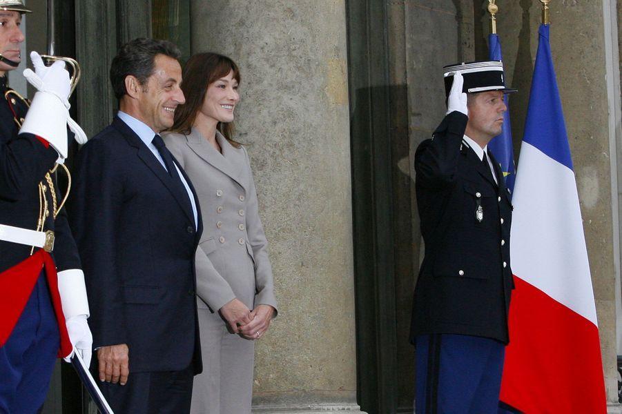 Nicolas Sarkozy et Carla Bruni à l'Élysée le 28 septembre 2010