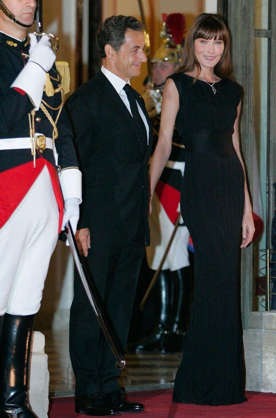 Nicolas Sarkozy et Carla Bruni à l'Élysée le 4 novembre 2010
