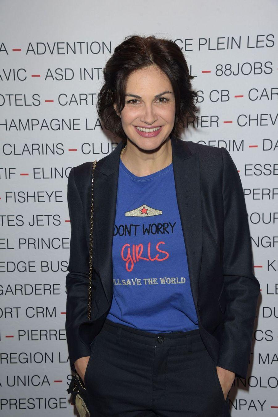Helena Noguerralors du déjeuner du Chinese Business Club à Paris, le 8 mars 2019
