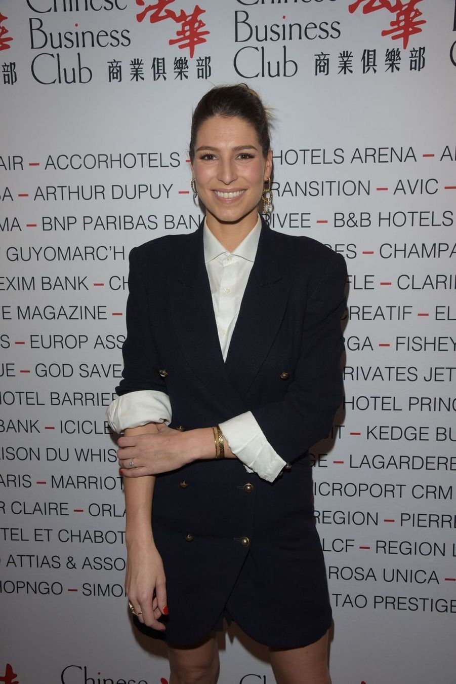 Laury Thilleman lors du déjeuner du Chinese Business Club à Paris, le 8 mars 2019