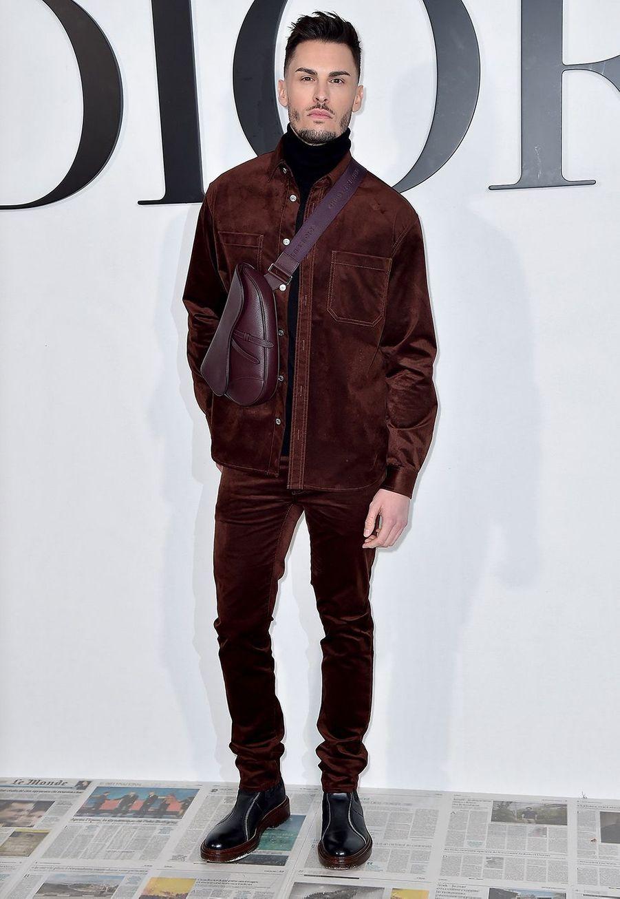 Baptiste Giabiconiau défilé Dior à Paris le 25 février 2020