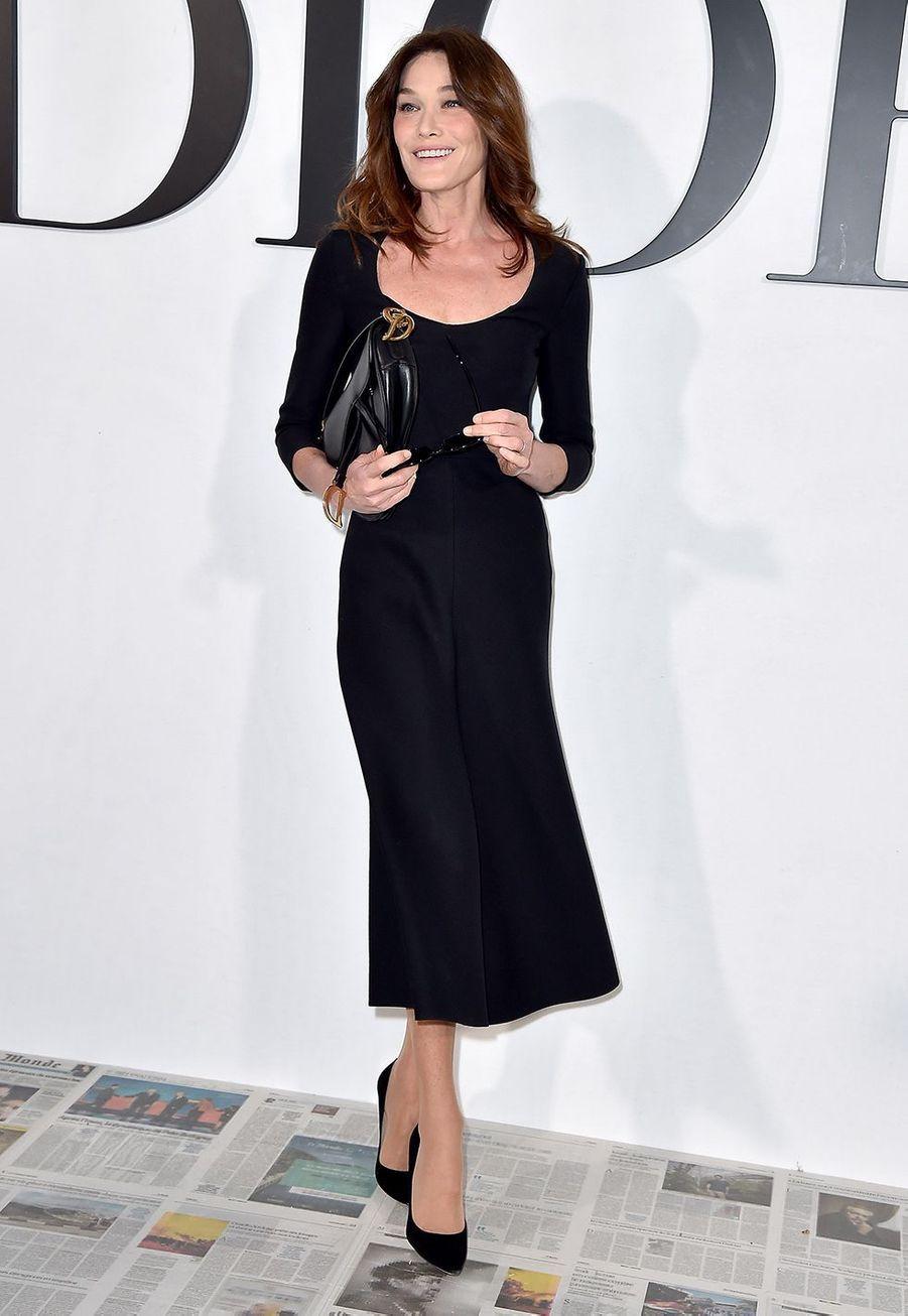 Carla Bruni au défilé Dior à Paris le 25 février 2020