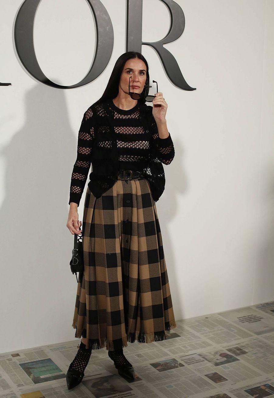 Demi Mooreau défilé Dior à Paris le 25 février 2020
