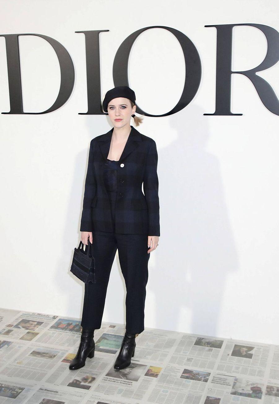 Rachel Brosnahanau défilé Dior à Paris le 25 février 2020