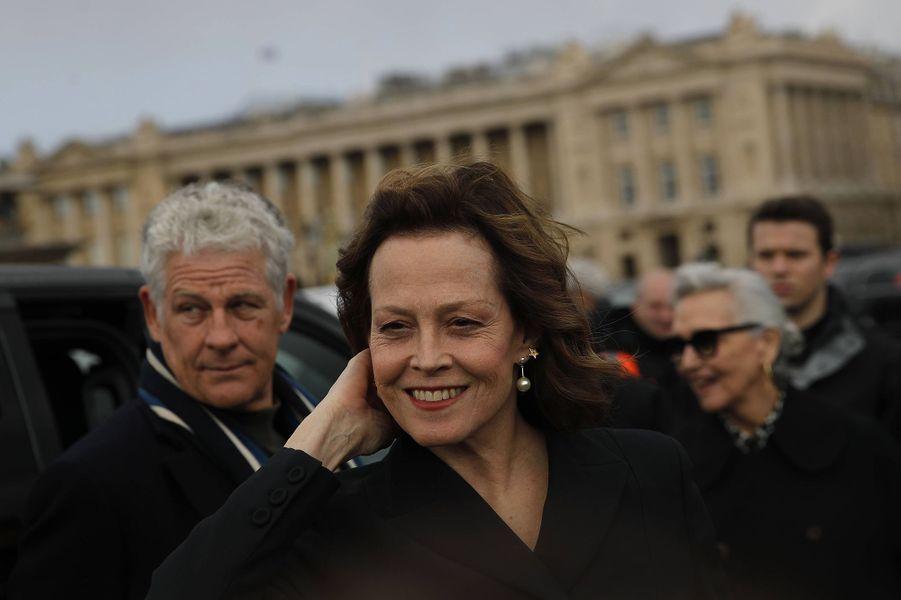 Sigourney Weaverau défilé Dior à Paris le 25 février 2020