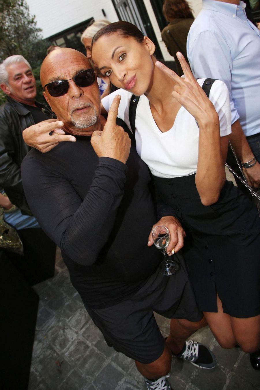 Jean-Baptiste Mondino et Noémie Lenoir lors du vernissage de l'exposition Mondino Numéro 20 ans a Paris, le 4 juillet 2019
