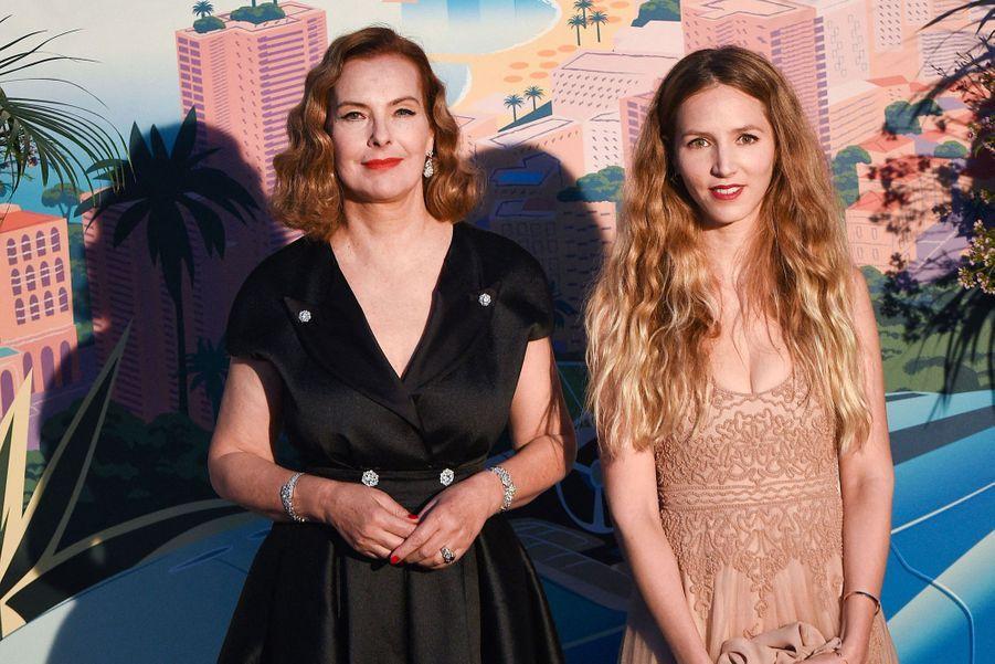 Carole Bouquet et sa belle-fille CharlotteTarbouriech au Bal de la Rose à Monte-Carlo le 30 mars 2019