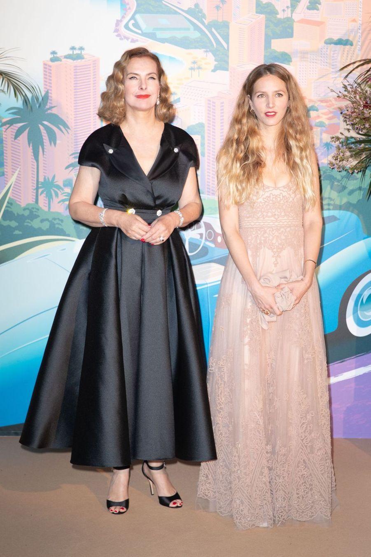 Carole Bouquet et sa belle-fille CharlotteTarbouriechau Bal de la Rose à Monte-Carlo le 30 mars 2019