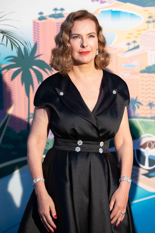 Carole Bouquetau Bal de la Rose à Monte-Carlo le 30 mars 2019