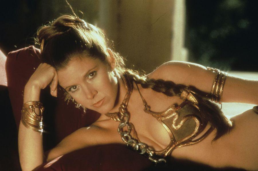 """Carrie Fisher dans """"Le Retour du Jedi""""."""