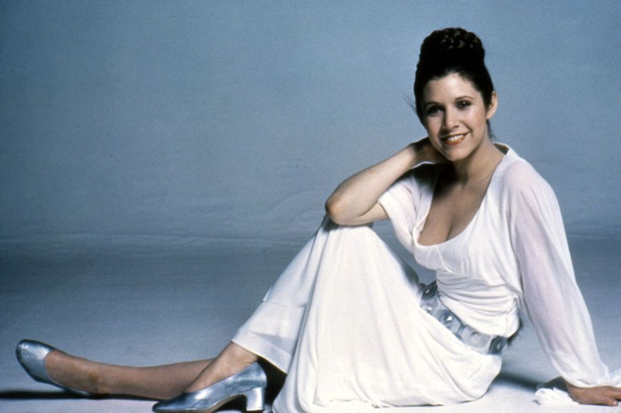 A tout juste 21 ans, Carrie Fisher devient princesse Leia.