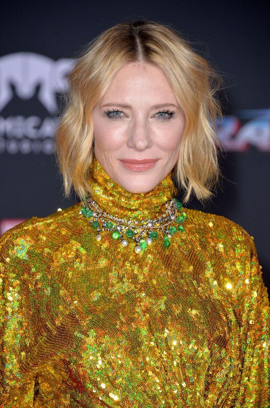 """Cate Blanchettà l'avant-première de """"Thor : Ragnarok"""", le 10 octobre à Los Angeles."""