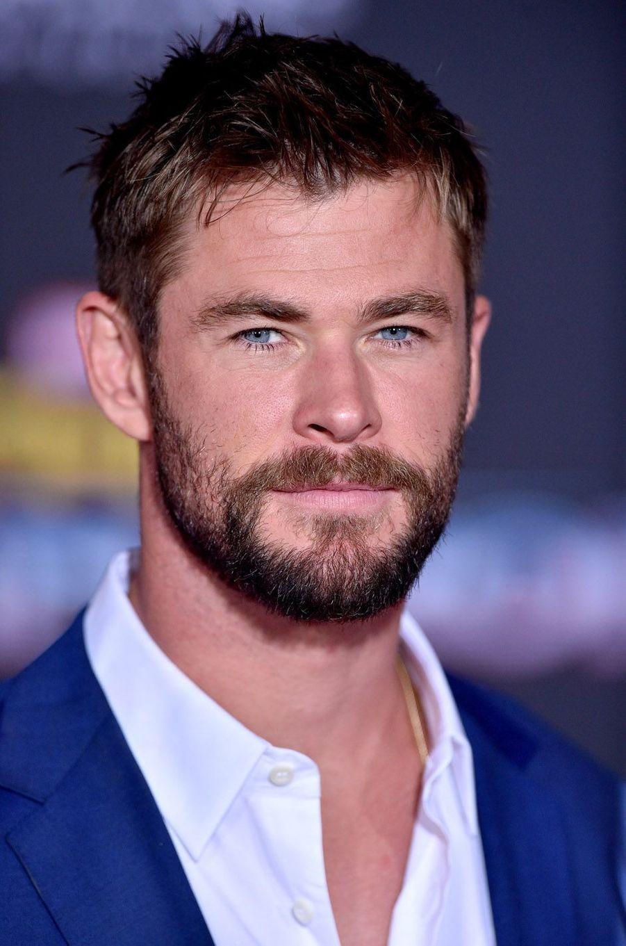 """Chris Hemsworthà l'avant-première de """"Thor : Ragnarok"""", le 10 octobre à Los Angeles."""