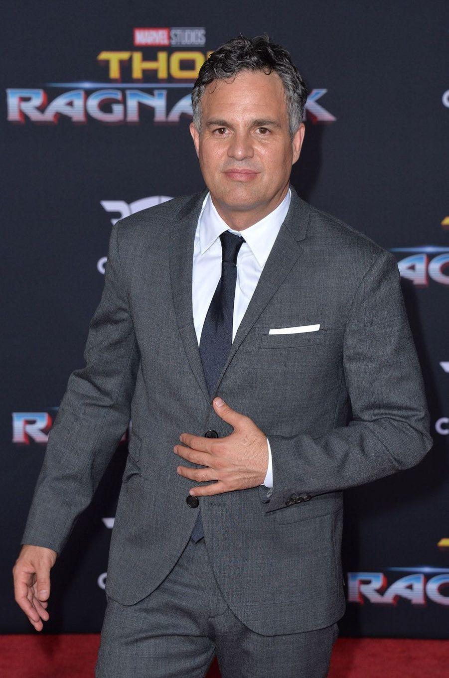 """Mark Ruffaloà l'avant-première de """"Thor : Ragnarok"""", le 10 octobre à Los Angeles."""