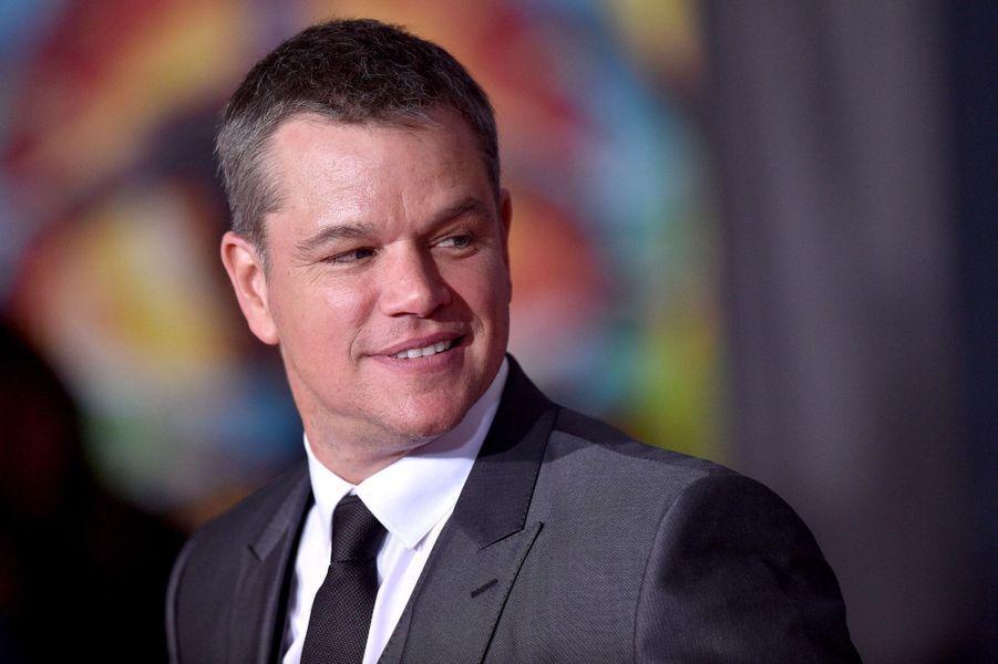 """Matt Damonà l'avant-première de """"Thor : Ragnarok"""", le 10 octobre à Los Angeles."""