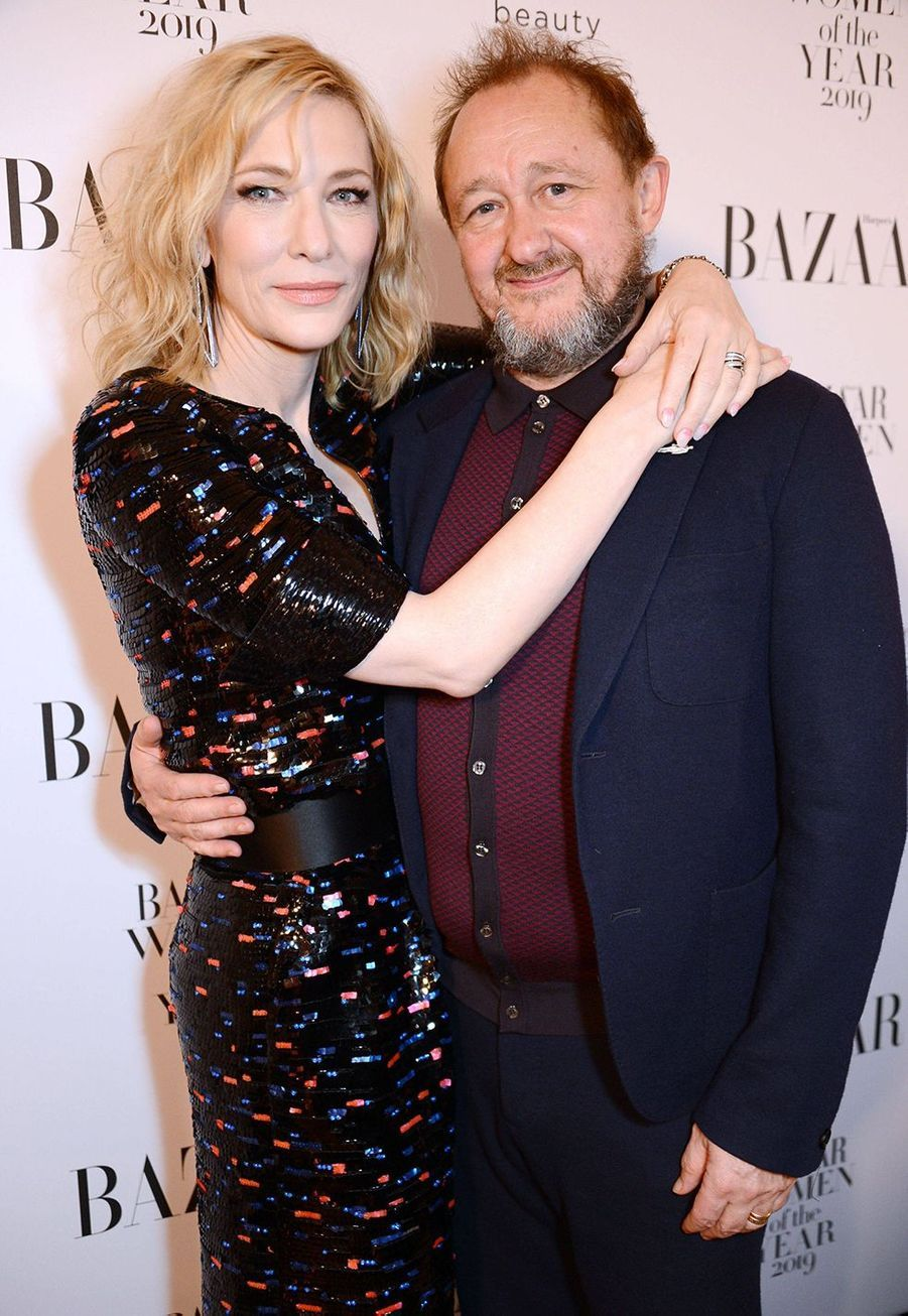 Cate Blanchett et son mari Andrew Upton à la soirée Harper's Bazaar Women of the Year Awards à Londres le 29 octobre 2019