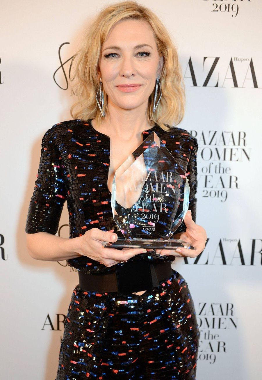 Cate Blanchett à la soirée Harper's Bazaar Women of the Year Awards à Londres le 29 octobre 2019