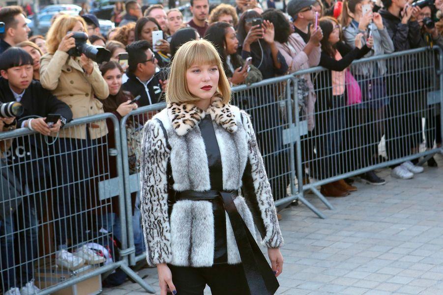 Léa Seydoux au défilé Louis Vuitton à Paris