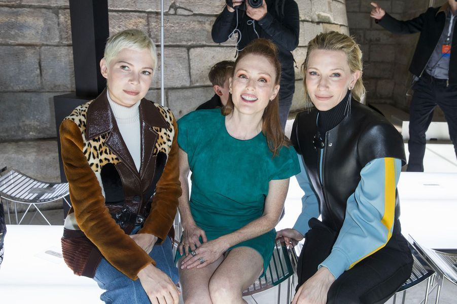 Michelle Williams, Julianne Moore et Cate Blanchett au défilé Louis Vuitton à Paris