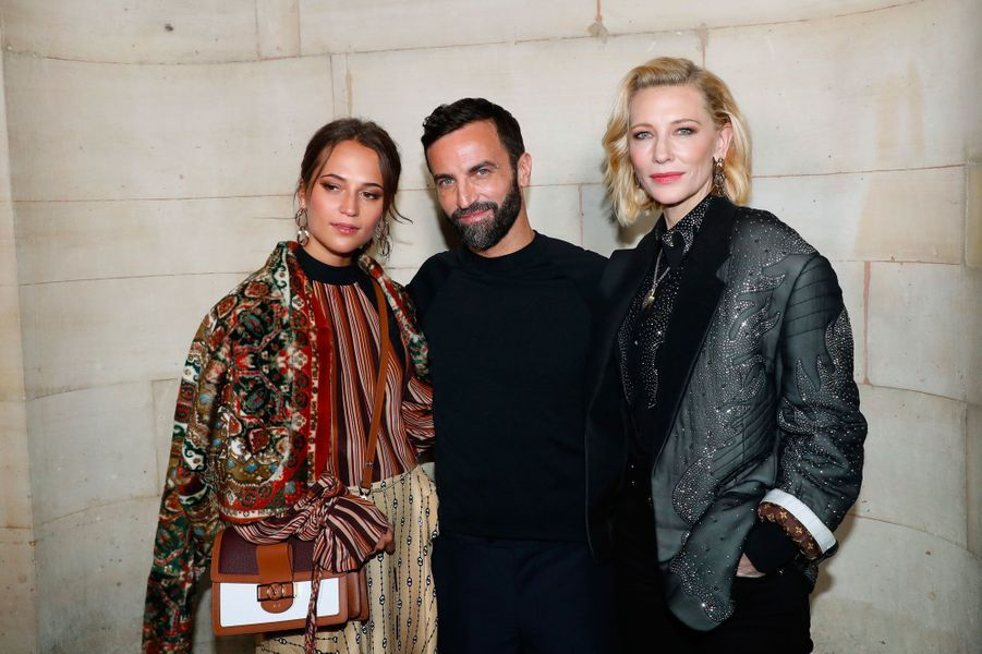 Alicia Vikander, Nicolas Ghesquière et Cate Blanchett