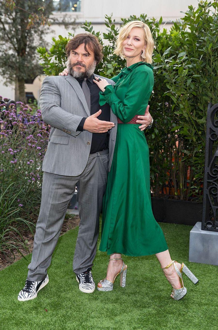 """Cate Blanchett et Jack Black à l'avant-première de """"La Prophétie de l'horloge"""" à Londres, mercredi 5 septembre"""