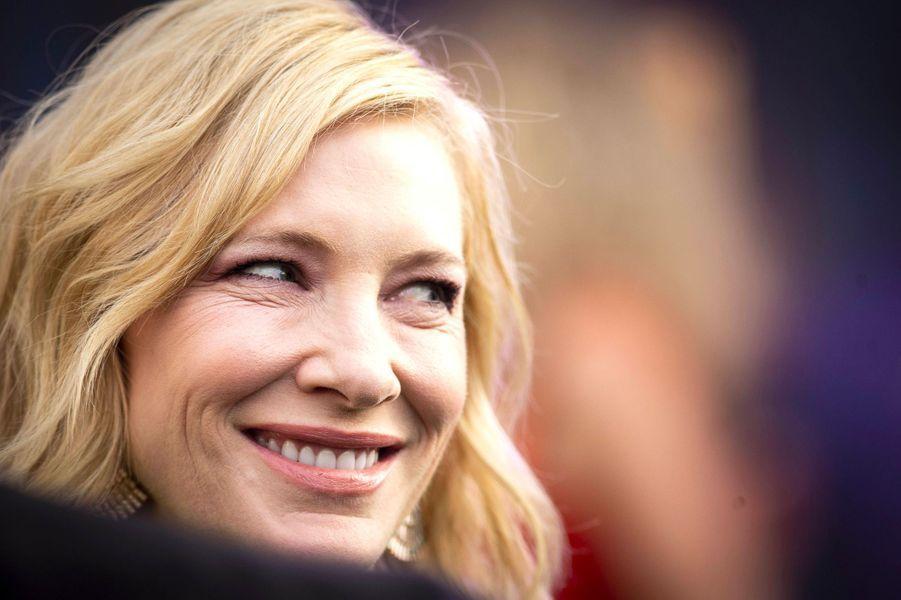 """Cate Blanchett à l'avant-première de """"La Prophétie de l'horloge"""" à Londres, mercredi 5 septembre"""