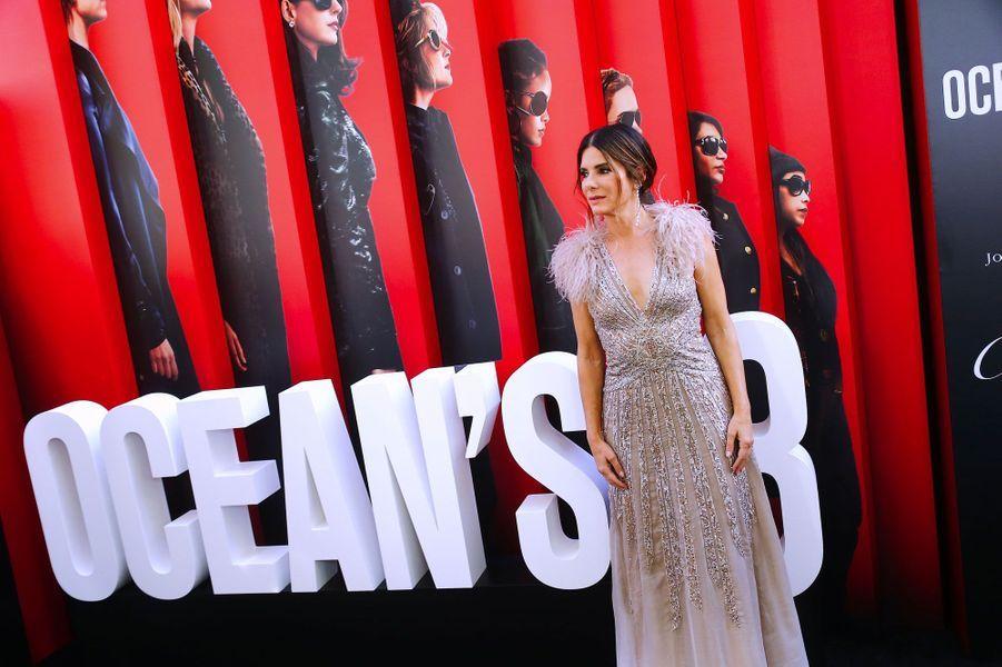 Sandra Bullock à l'avant-première à New York le 5 juin 2018