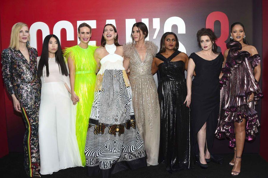 Le casting d'Ocean's 8 à l'avant-première à New York le 5 juin 2018